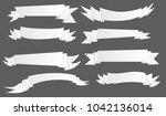 many kind of ribbon ribbin... | Shutterstock .eps vector #1042136014