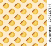 seamless pattern with falafel... | Shutterstock .eps vector #1042137844