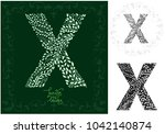 letter x made with decorative... | Shutterstock .eps vector #1042140874