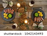 christmas menu with duck breast ...