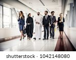 arabic and western business... | Shutterstock . vector #1042148080