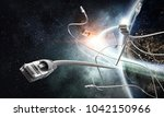 internet connection and... | Shutterstock . vector #1042150966