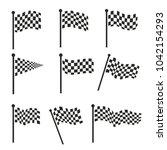 flag vector design race black... | Shutterstock .eps vector #1042154293