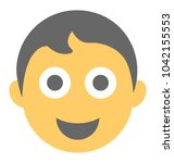 boy with happy expressions...   Shutterstock .eps vector #1042155553
