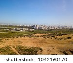 north tel aviv beach aerie   | Shutterstock . vector #1042160170