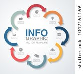 vector infographic template for ... | Shutterstock .eps vector #1042161169
