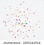 colorful confetti explosion ... | Shutterstock .eps vector #1042162516