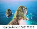 manta bay or kelingking beach... | Shutterstock . vector #1042165513