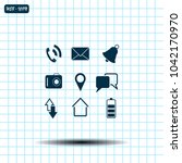 map icons on white background.... | Shutterstock .eps vector #1042170970