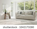 idea of white room with sofa...   Shutterstock . vector #1042173280