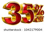 35  off   thirty five percent... | Shutterstock .eps vector #1042179004