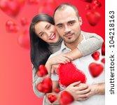 beautiful young couple...   Shutterstock . vector #104218163