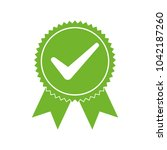 approved certified icon.... | Shutterstock .eps vector #1042187260