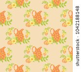 seamless vector pattern of... | Shutterstock .eps vector #1042188148