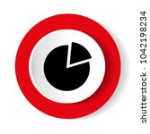 vector growing graph icon | Shutterstock .eps vector #1042198234