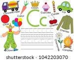 english alphabet. letter c....   Shutterstock .eps vector #1042203070