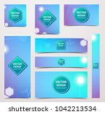 medical banner with... | Shutterstock .eps vector #1042213534
