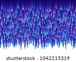 blue vector glitch electric... | Shutterstock .eps vector #1042215319