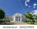 federal reserve building in... | Shutterstock . vector #1042219003