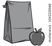 sack lunch illustration   a...   Shutterstock .eps vector #1042220068