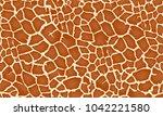 giraffe texture pattern...   Shutterstock .eps vector #1042221580