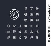 timer icon in set on the black... | Shutterstock .eps vector #1042222189
