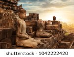 statue of buddha against the... | Shutterstock . vector #1042222420
