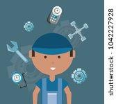 car service design | Shutterstock .eps vector #1042227928