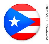 flag of puerto rico  in the... | Shutterstock . vector #1042228828