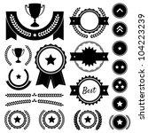 set of achievement award... | Shutterstock .eps vector #104223239