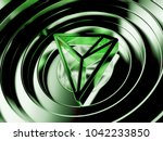 green tron crypto currency... | Shutterstock . vector #1042233850