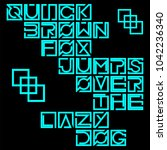 technology square bunlde font... | Shutterstock .eps vector #1042236340