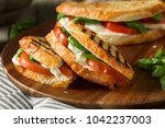 healthy grilled basil... | Shutterstock . vector #1042237003