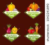 vegetables fresh food | Shutterstock .eps vector #1042241890