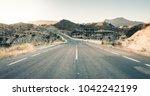 road to el rellano in molina de ... | Shutterstock . vector #1042242199