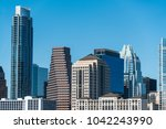 austin texas towers close up on ... | Shutterstock . vector #1042243990