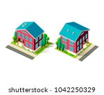 set vector isolated isometric...   Shutterstock .eps vector #1042250329