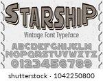 font alphabet typeface... | Shutterstock .eps vector #1042250800