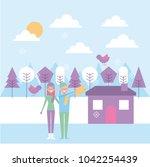 people cartoon characters   Shutterstock .eps vector #1042254439