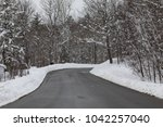 a quiet country road in vermont ... | Shutterstock . vector #1042257040