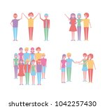 people cartoon characters | Shutterstock .eps vector #1042257430