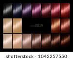 hair color palette with a range ... | Shutterstock . vector #1042257550