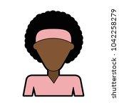 woman faceless profile | Shutterstock .eps vector #1042258279