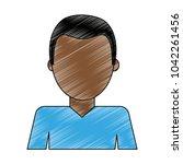 man faceless avatar | Shutterstock .eps vector #1042261456