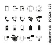 set of telephone bussines icons