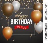 happy birthday vector... | Shutterstock .eps vector #1042268734