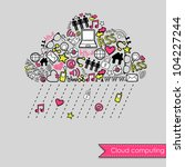 raining cloud computing and... | Shutterstock .eps vector #104227244