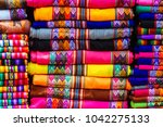 Close Up Of Colorful Blankets...