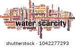 water scarcity word cloud... | Shutterstock .eps vector #1042277293