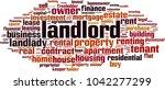 landlord word cloud concept.... | Shutterstock .eps vector #1042277299